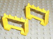 2 x LEGO Yellow Hinge Vehicle Roof Holder 4214/set 6671 6692 6649 6697 6362 6361