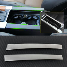 2pcs Chrome Cup Holder Center Console Panel Cover Trim for Volvo XC60 S60 V60