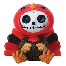 Furrybones Figurine - Pumpkin The Turkey - New In Box Skeleton Face In Costume