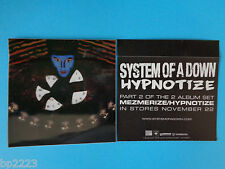 "2-PK SYSTEM OF THE DOWN ""HYPNOTIZE"" Decal/Stickers, Brand NEW, Hard to Find Item"