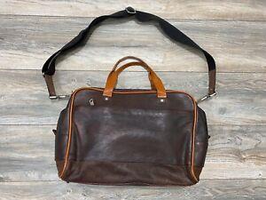 Jack Spade Messenger Bag With Handles | Brown Leather | Large