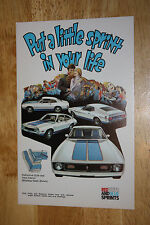 NOS 1972 FORD MUSTANG, MAVERICK, AND PINTO SPRINT LIMITED EDITION MODEL POSTCARD
