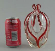 Murano Vase Clear Italian Art Glass