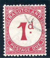 Basutoland 1933 KGV Postage Due 1d deep carmine-red very fine used. SG D1 var.