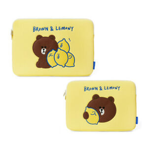 LINE FRIENDS x Secondmorning Brown & Lemony Laptop Pouch Case 13in 15in Official