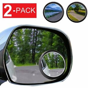 2-Pack Wide Angle Convex Rear Side View Blind Spot Mirror Car Auto Universal