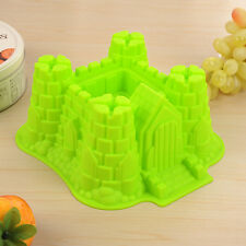 New Silicone 3D Castle Bundt Cake Pan Bread Chocolate Bakeware Silicone Mold