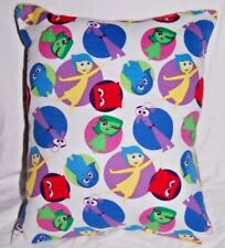 NEW HANDMADE DISNEY PIXAR INSIDE OUT CHARACTERS WHITE FLANNEL TRAVEL  PILLOW