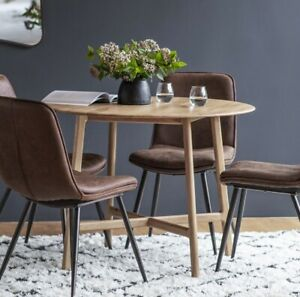 Frank Hudson Gallery Direct Madrid Oak Round Dining Table