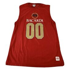 Men's Bacardi Rum Red Jersey #00 Size Large