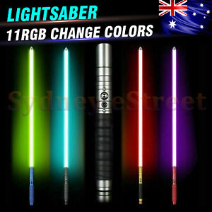 Metal Lightsaber Combat Grade RBG 11 colors Light Saber Metal 100cm Sound Blade