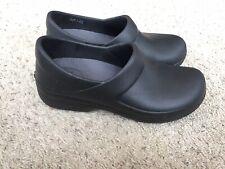 CROCS 204045 Neria Black Professional Clogs Women's Size US 8 Triple Comfort