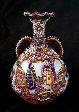 Antique Japanese Satsuma porcelain enamelled vase 6.25 inches