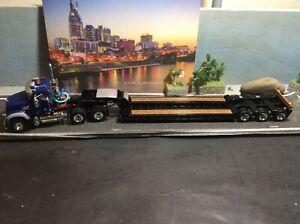 1:50 Scale Mack  Mack® Granite® MP and Talbert® Tri-Axle Lowboy 50-3458