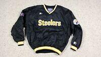 Vtg Pittsburgh Steelers NFL Starter Pro Line Pullover Lined Windbreaker XL 90s