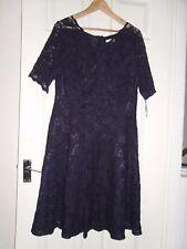 Ladies BNWOT Kaliko Navy Lace Dress Size 16