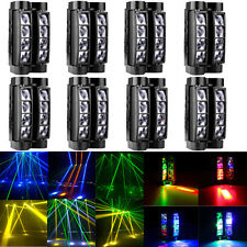 8Pcs 80W Rgbw Led Spider Stage Light Beam Moving Head Disco Dj Party Lighting