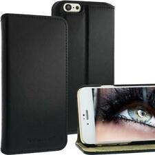 Bookstyle Leather Bag for Apple iPhone 6 Black With Standfuktion Leather Case NEW