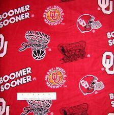 "College Fleece Fabric - NCAA Oklahoma University Toss - Anti-Pill 58/60"" by YARD"