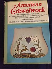 American Crewelwork Mary Landon Susan Swan hardcover 1971 Traditional stitching