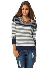 AJC Striped Jumper UK Size 6/8 Blue/Grey Box15 21 b