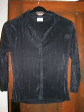 Black Crinkle Blouse / Top by Next Size 14 BNWOT