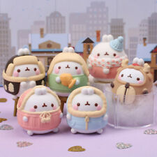 "Molang 2"" Mini Figure Winter Special 6 Completed Set Box Collectible Cute Toy"