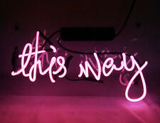 """This Way"" Hand Made Slogan Neon Sign light Boutique Shop Beer Bar Wall Decor"