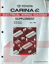 1993 TOYOTA CARINA E AT190 ST191 ELECTRICAL WIRING DIAGRAM SUPPLEMENT EWD173F