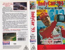 INDY CAR 93 THE OFFICIAL REVIEW  VHS PAL VIDEO~ A RARE FIND