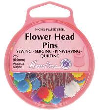 Hemline Flower Head Pins