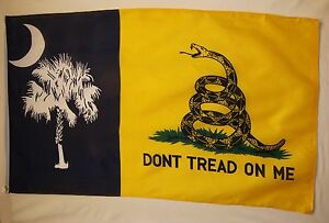 South Carolina Don't Tread On Me Flag 3' x 5' Gun Rights 2nd Amendment Banner