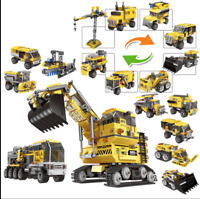 800+PCS 8in1 Building Blocks Giant Excavator Changeable Toys Model gxmas gift