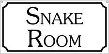 Snake Room- 6x12 Aluminum Retro Caution Rv Movie Film sign