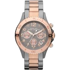 Mens Marc Jacobs MBM3157 Two Tone Grey Chronograph Watch RRP £299