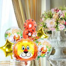 6 pcs Lion Balloon Animal Number Balloons Set Kids Birthday Party Decoration