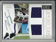 Torrey Smith 2011 National Treasures Autograph Game Used Jersey RC #28/49