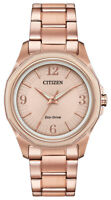 Citizen Eco-Drive Women's AR Rose Gold Chroma Accent 35mm Watch FE7053-51X