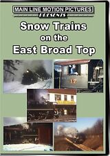 SNOW TRAINS ON THE EAST BROAD TOP MAIN LINE MOTION PICTURES NEW DVD VIDEO