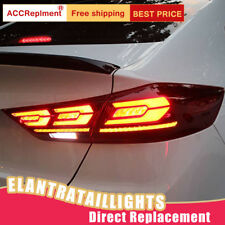 For Hyundai Elantra LED Taillights Assembly Red LED Rear Lamps 2017-2018