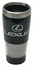 Lexus Logo Black And Carbon Fiber Stainless Steel Travel Coffee Mug Cup