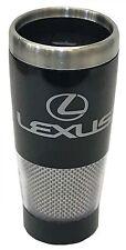 Lexus Logo Black And Carbon Fiber Stainless Steel Travel Coffee Mug Cup