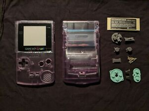 Atomic Purple Gameboy Color Shell GBC w/Glass Lens+Sticker//COMBINED SHIPPING!!!
