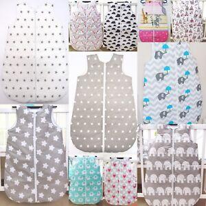 Sleeping Bag Newborn Baby 0-6 Months 100% Cotton Nursery Travel Zip Bag