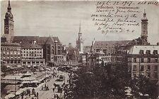 Germany AK Munchen München - Viktualienmarkt 1907 used postcard
