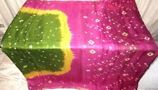 Henna Magenta Pure Silk 4 yard Vintage Sari Saree Girls daily deals photo #6HLYQ