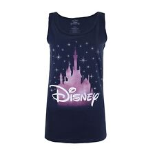 Disney Princess - Disney Castle - Ladies Sleeveless Vest Top - Navy