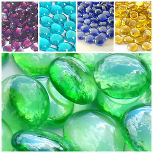 Decorative Round Glass Pebbles / Stones **Choice of Colours & Quantities**