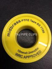 2 x Nastro PTFE Nastro di gas per sigillo filo bianco nastro di teflon-larghezza 12 mm 5 M L