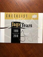 18-19 UD Series 1 Jagr Years Checklist Jaromir Jagr